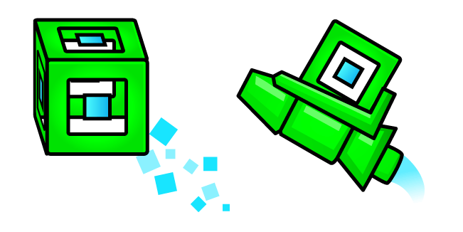 Geometry Dash 3D Player Cube and Ship
