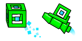 Geometry Dash 3D Player Cube and Ship Curseur