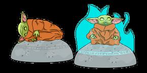 Курсор Звездные Войны Малыш Йода Камень Наблюдения