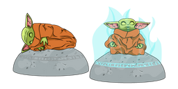 Star Wars Baby Yoda Seeing Stone Curseur