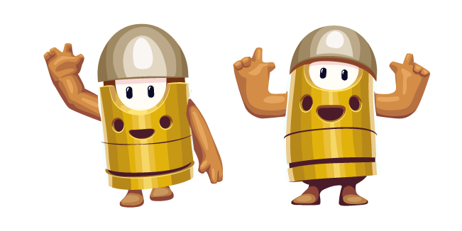 Fall Guys Character in Bullet Kin Costume