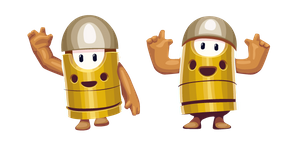 Fall Guys Character in Bullet Kin Costume Cursor