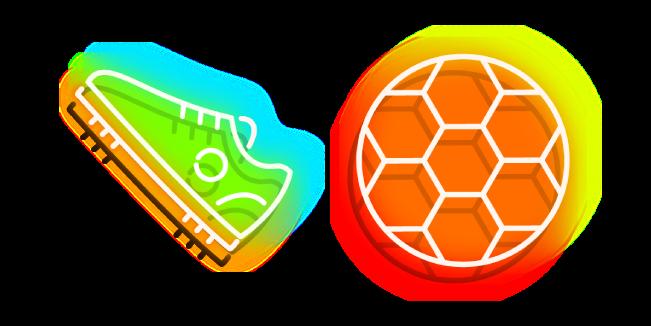 Неоновый Кроссовок и Мяч