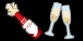 Christmas Kids Champagne Cursor