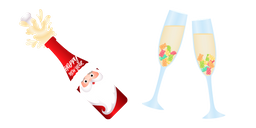 Christmas Kids Champagne Curseur