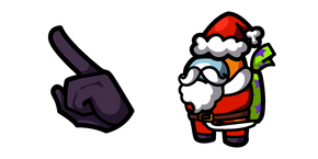Among Us Orange Santa Character Cursor