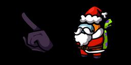 Among Us Orange Santa Character Curseur