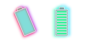 Neon Battery Cursor