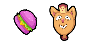 Undertale Burgerpants and Glamburger Cursor