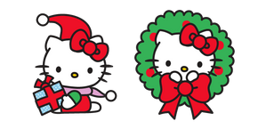 Christmas Hello Kitty Cursor