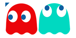 Pac-Man Blinky and Inky Ghosts Cursor