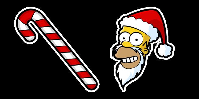 Симпсоны Гомер Санта и Карамельная Трость
