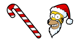 The Simpsons Homer Santa and Cane Curseur
