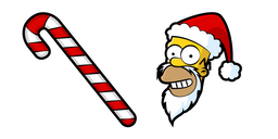 The Simpsons Homer Santa and Cane Curseur