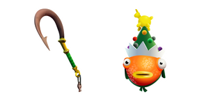 Fortnite Fa-la-la-la Fishstick and Holiday Hook Cursor