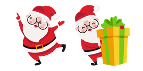 Christmas Santa and Present Cursor
