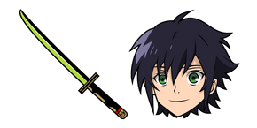 Seraph of the End Yuichiro Hyakuya and Sword Cursor