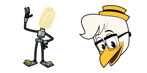 DuckTales Gyro Gearloose and Lil Bulb Cursor