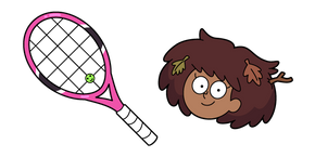 Amphibia Anne Boonchuy and Tennis Racket Cursor