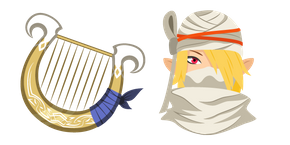 The Legend of Zelda Sheik and Goddess's Harp Cursor