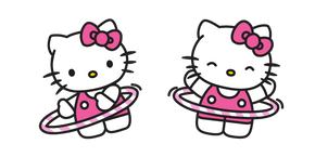 Hello Kitty and Hula Hoop Curseur