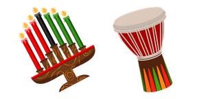 Kwanzaa Celebration Symbols Cursor