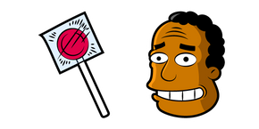 The Simpsons Julius Hibbert and Wowwipop Cursor