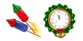 New Year Clock and Firework Cursor