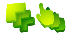 Green Abstract 3D Cursor