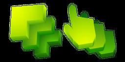 Green Abstract 3D Cursor
