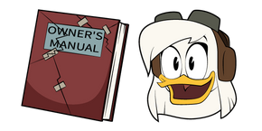 DuckTales Della Duck and Owners Manual Curseur