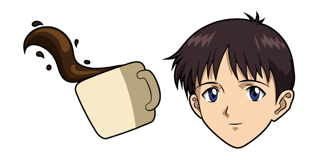 Neon Genesis Evangelion Shinji Ikari and Coffee