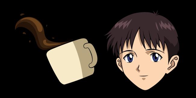 Neon Genesis Evangelion Синдзи Икари и Кофе