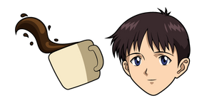 Neon Genesis Evangelion Shinji Ikari and Coffee Curseur