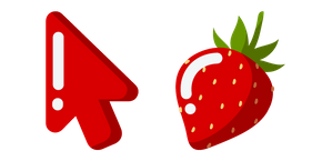 Minimal Strawberry Cursor