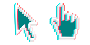 Курсор 3D Пиксельный Эффект