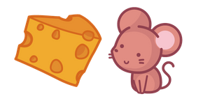 Cute Mouse and Cheese Curseur