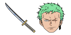 One Piece Roronoa Zoro and Sword Curseur