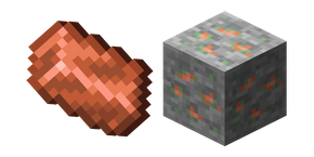Minecraft Copper Ore and Copper Ingot Curseur