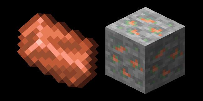 Minecraft Copper Ore and Copper Ingot