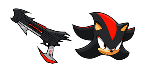 Sonic Shadow the Hedgehog and Rifle Cursor