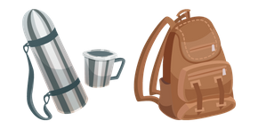 Thermos and Backpack Cursor