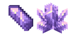 Minecraft Amethyst Cluster and Amethyst Shard Curseur