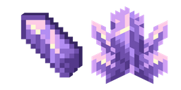 Minecraft Amethyst Cluster and Amethyst Shard Cursor