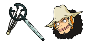One Piece Usopp and Slingshot Curseur