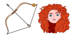 Brave Princess Merida and Bow Cursor