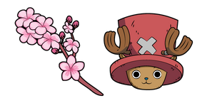 One Piece Tony Tony Chopper and Sakura Blossom Cursor
