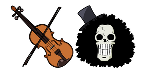 One Piece Brook and Violin Cursor