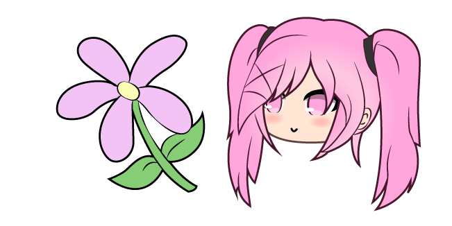 Gacha Life Sakura and Flower