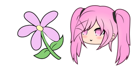 Gacha Life Sakura and Flower Cursor